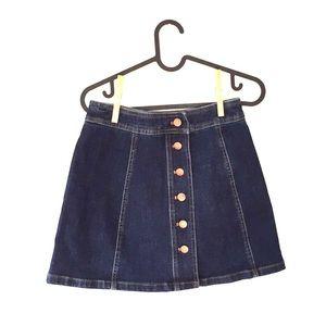 Madewell Button Up Denim Skirt